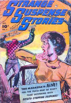 Comic Book Cover For Strange Suspense Stories v1 #3