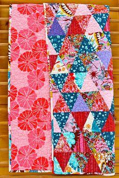 Anna Maria Horner Triangles Baby Quilt