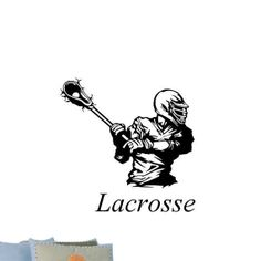 Lacrosse+Player+with+Lacrosse+Lettering+Vinyl+Wall+by+Stickyzilla,+$24.99