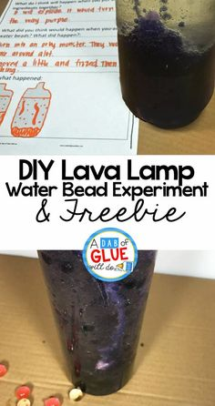Fun science with a blast from the past. If you have a lava lamp growing up you are going to love introducing this fun science experiment to your students. Try this DIY lava lamp with water beads experiment in your classroom this week!