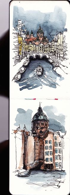 Amsterdam urban sketching – myMoleskine Community – Graffiti World Kunst Inspo, Art Inspo, Art And Illustration, Art Sketches, Art Drawings, Travel Sketchbook, Art Sketchbook, Urban Sketching, Sketching Tips
