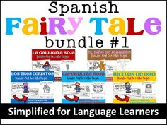 Spanish Fairy Tales Bundle ~ Simplified for Language Learners