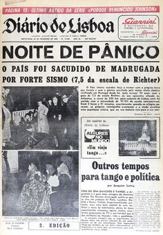 The 1969 Portugal earthquake struck western Portugal and Morocco on February 28 Old Pictures, Old Photos, History Of Portugal, Nostalgic Pictures, Nostalgia, Iberian Peninsula, Fidel Castro, Poster Ads, My Memory