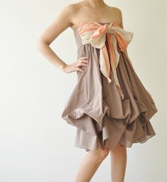Vary   Brown Cocktail Dress by aftershowershop on Etsy