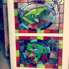 """Painted """"stained"""" glass windows"""