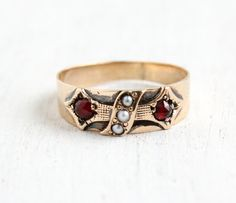 SALE Antique Victorian 9k Rose Gold Seed Pearl & by MaejeanVintage, $190.00