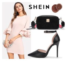 """SHEIN Exaggerate Layered Ruffle Sleeve Dress"" by decor4 ❤ liked on Polyvore"