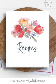 Recipe Binder Kit Printable Cover Page - #recipebinderkit #recipebook #cookbook #recipecoverpage #recipe #diycookbook #diyrecipebook #recipeorganization #recipebinder #recipeprintable #printable #digitaldownload #cooking #baking #familyrecipebook #familycookbook #diy #christmasgiftideas #birthdaygift #mothersdaygift #bridalshowergift Cookbook Organization, Family Recipe Book, Book Binder, Recipe Sheets, Recipe Cover, Book Spine, Bridal Shower Gifts, Printing Services, Christmas Gifts