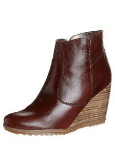 TAYLA - Bottines compensées - marron