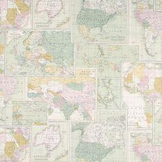 Half panama Landkaart - Katoen - Polyester - ecru