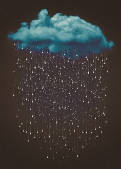 clouds, rain, and light image