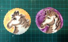 Horse cup cake toppers. Hand painted.