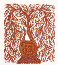 FolkPaintingsIndia Gond Painting, Trees, Inspire, Paintings, Abstract, Artwork, Inspiration, Design, Pintura
