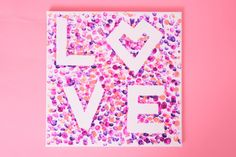 Painted L<3ve | Finger painting card or make it extra cute and frame it! Perfect for kids or kids at heart