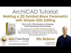 ArchiCAD Tutorial | Make 2D Symbols Parametric - Simple GDL Editing (part 2 of 3) - YouTube