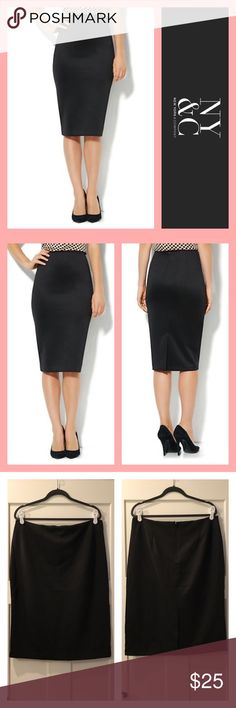 🔴Theo Scuba Skirt NY&Co Theo Scuba Skirt  NWT Size 18 Color Black  Fit details in photo   💰Bundle Your Likes (even just one item) for a Private Discounted Offer💰 🌸reasonable offers accepted🌸  🐾pet friendlly home🐾 🚫no trades🚫 New York & Company Skirts Pencil