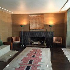 Eliel and Loja Saarinen House, Cranbrook (living room) 1930