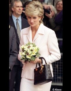 Lady Di and Dior - the Lady Dior bag.