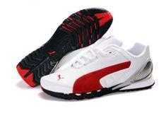 Womens Puma Grit Cat III White Red Gray Puma Sports Shoes cec0d64fec2d5