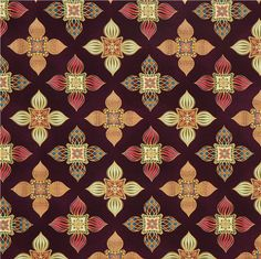 purple onion tower flower fabric with gold Robert Kaufman