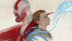 I love God of War 4 so much! Still playing the game. Wallpaper version : Father Son High Res Father And Son Overwatch, Kratos God Of War, God Loves Me, Greek Gods, Father And Son, Game Character, Game Art, Cool Art, Sons