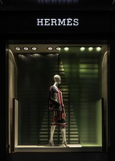 "Hermès,Sydney, Australia, ""Go Green.....there is no Planet B"", pinned by Ton van der Veer"