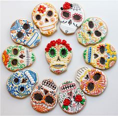 Sugar skull cookies. These cookies might be worth the time to make. lol