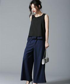 japanese fashion nanouniverse Ladys()FO N - fashion Japan Fashion, Work Fashion, Fashion Pants, Hijab Fashion, Daily Fashion, Fashion Outfits, Fashion Fashion, Work Looks, Fashion Books