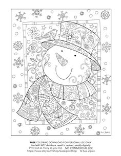 Snowman Coloring Pages for Adults Pretty 139 Finest Christmas Coloring Pages Picture. Snowman Coloring Pages, Christmas Coloring Pages, Coloring Book Pages, Printable Coloring Pages, Coloring Sheets, Christmas Colors, Christmas Art, Theme Noel, Digi Stamps