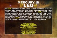 Mercury in Leo #Zodiac #Astrology For related posts, please check out my FB page: https://www.facebook.com/TheZodiacZone
