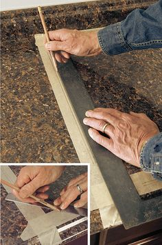 Cut a Laminate Countertop for a Sink - Fine Homebuilding How To Install Countertops, Laminate Countertops, Kitchen Tops, New Kitchen, Kitchen Layout, Building A House, Diy Projects, Counter Top, Sinks