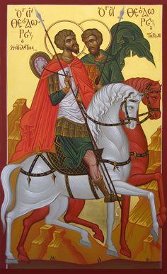 Posts about Agioi Theodoroi written by michaelhdj Archangel Gabriel, Archangel Michael, St Constantine, Andrew The Apostle, Church Icon, Byzantine Art, Saint Nicholas, John The Baptist, Orthodox Icons