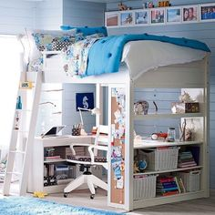 Sleep & Study Loft, Full, Honey, found on polyvore.com