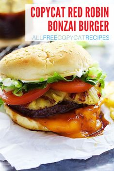 If you want to surprise, make this burger for your next cookout. It tastes just like the classic burger from Red Robin! Fruit Recipes, Summer Recipes, Love Ice Cream, Ice Cream Recipes, Copycat Recipes, Entrees, Hamburger, Robin, Easy Meals