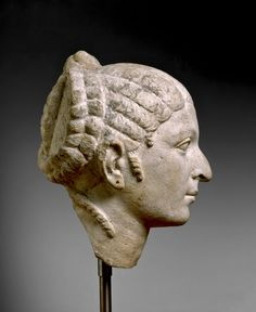 Limestone head of a woman resembling Cleopatra VII, Roman, about 50-30 BC | The British Museum