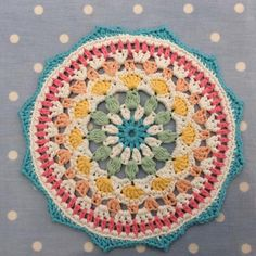 Naissance Mandala, crocheted by Cotton Pod. Made with DROPS Paris