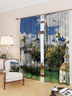 """Комплект штор """"Сергиево-Посадская лавра"""": купить комплект штор в интернет-магазине ТОМДОМ #томдом #curtains #шторы #interior #дизайнинтерьера"""