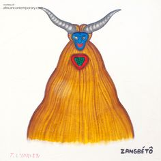 Contemporary African Art Gallery featuring Paintings, Drawings from Cyprien TOKOUDAGBA. Contemporary African Art, African Artists, National Museum, Moose Art, Art Gallery, Paintings, Ceramics, Drawings, Inspiration