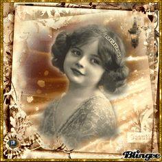 Vintage little girl sepia