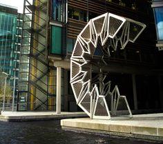 The Rolling Bridge in London by Thomas Heatherwick. Favourite designer :D his brain is amazing