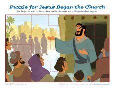 Jesus Began the Church Jigsaw Puzzle