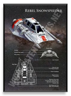 Rebel Snowspeeder, Star Wars Poster