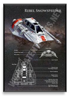 Rebel Snowspeeder Poster Star Wars Ship Star Wars Poster Star Wars Patent Star Wars Blueprint S Nave Star Wars, Star Wars Rpg, Star Wars Ships, Star Wars Rebels, Star Trek, V Wings, Film Science Fiction, Cuadros Star Wars, Star Wars Spaceships