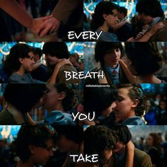 """Every Breath You Take"" with Mike and Eleven ❤❤ My favorite song with my favorite ship ❤❤ Stranger Danger, Stranger Things Season, Stranger Things Netflix, Millie Bobby Brown, Memes, Don T Lie, Cute Actors, Book Fandoms, Best Shows Ever"