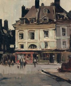 The red shop, Dieppe, Edward Seago. English (1910 - 1974)