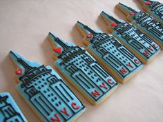 Empire State Building Cookie Favors by Whipped Bakeshop, via Flickr