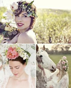 I love this look! 30 Beautiful Flower Crowns For Boho Brides   DIY Tutorials
