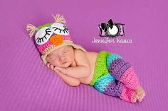 Crochet Baby Owl Hat and Pants Set by JJBabyCrochet on Etsy, $40.00