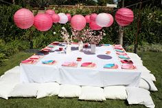 6b9eed9e6629 Buttercream Buzz  Japanese Themed Birthday Party Everything on the floor to  make it authentic Japanese