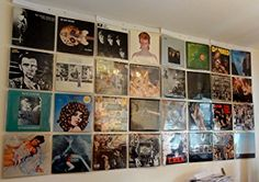 Wall of Sound 32 x vinyl record LP album wall display Vinyl Record Shop, Record Wall, Vinyl Records, Lp Cover, Vinyl Cover, Design Transparent, Wall Of Sound, Online Galerie, Pochette Album